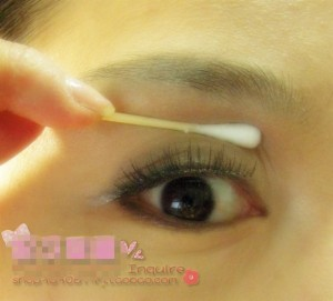 apply lashes