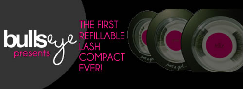 The first refillable lash compact ever! Bullseye... Just a Girl Collection