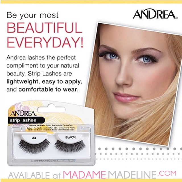 Andrea Beautiful Everyday with false eyelashes