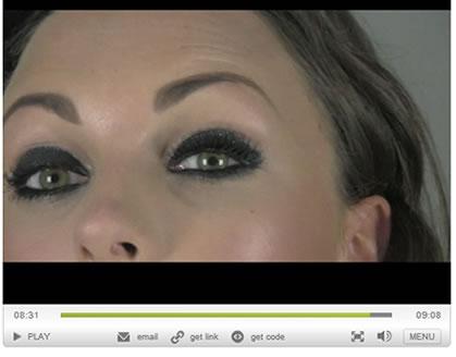 Apply pixie lashes