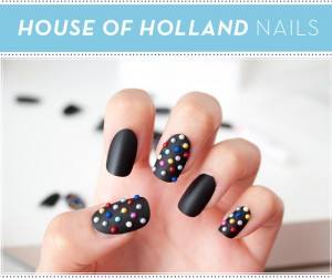 Compliment your false eyelashes with House of Holland Nails