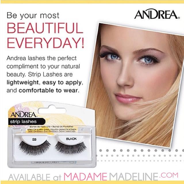 Andrea Beautiful Everyday with false eyelashes