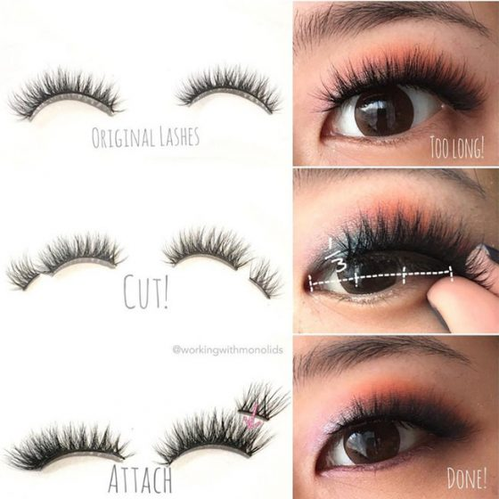 Genius False Eyelash Hack For Small Eyes Falseeyelashes