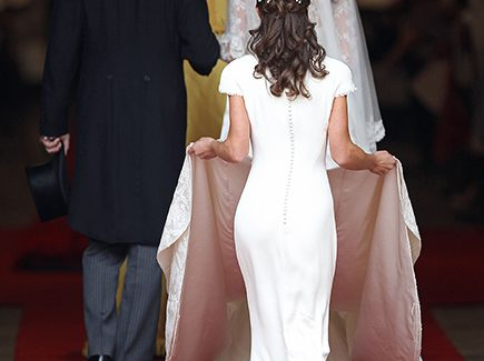 Princess Kate was the epitome of a princess bride, but it was the young woman carrying her train – sister Pippa Middleton – who unexpectedly stole the show at the royal wedding.