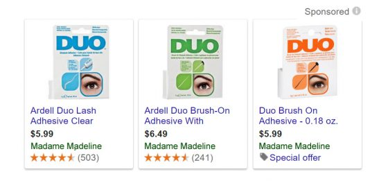 DUO Eyelash Adhesive as Discount Prices