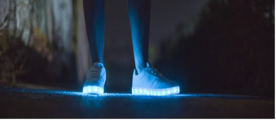 celebrities with led shoes